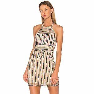 X by NBD x Revolve Kenya Beaded Dress in Aztec NWT